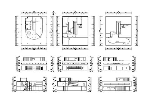 layout drawing là gì villa savoye cad drawings le corbusier download cad