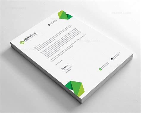 psd corporate letterhead template 000401 template catalog