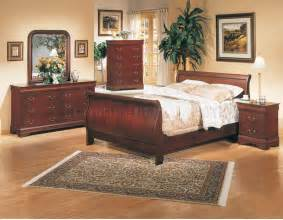 classic cherry finish 5pc bedroom set w