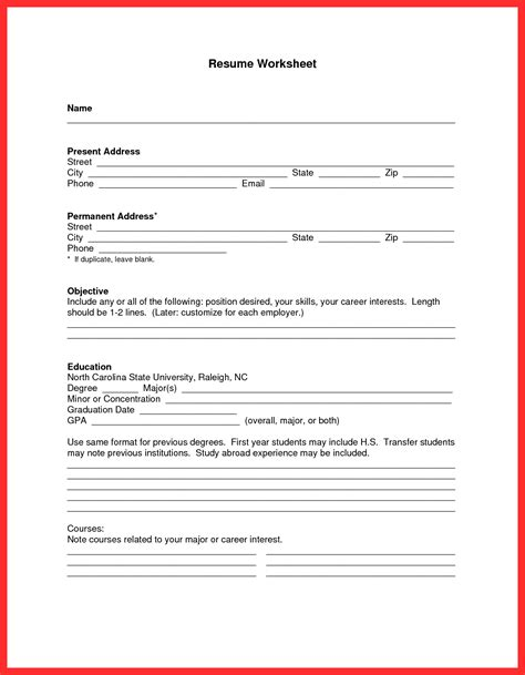 sample resume format for high school students study inside basic