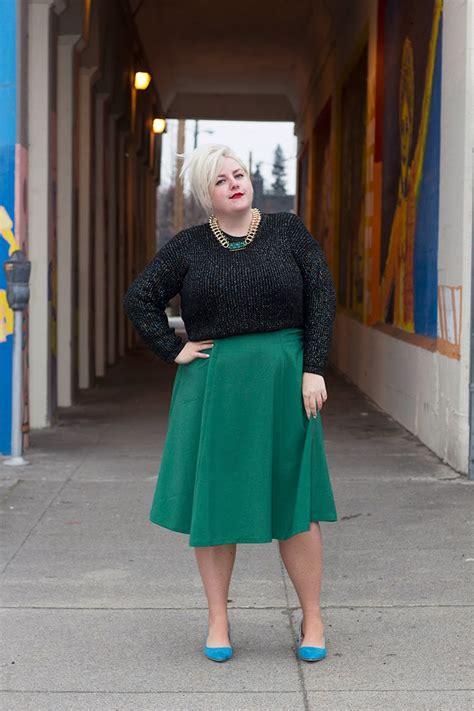 margie plus the plus size winter midi skirt