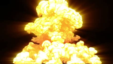 Armaggeddon Nuke 7 Yellow atomic explosion 2 a large nuclear explosion stock