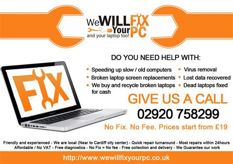 computer repair flyer template word bold modern flyer design for we will fix your pc by