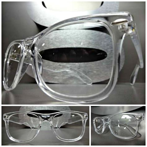 s vintage retro style clear lens eye glasses