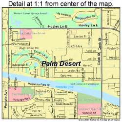 palm desert california map 0655184