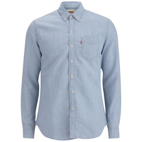 light denim shirt mens levi s men s long sleeve slim fit classic bleached denim