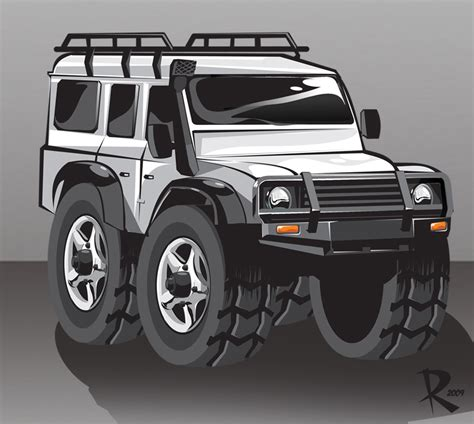 land rover defender vector vector car defender by klaatu81 on deviantart