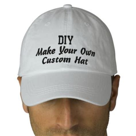 diy design your own custom baseball hat from zazzle products
