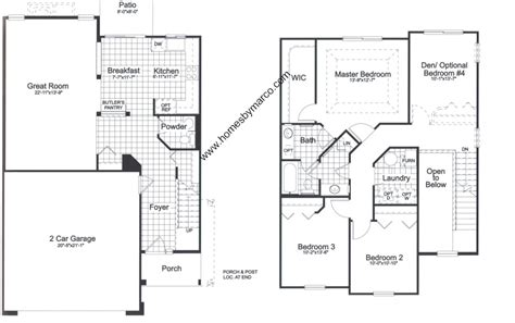 homes by marco floor plans 732 model in the coventry subdivision in lake in the hills