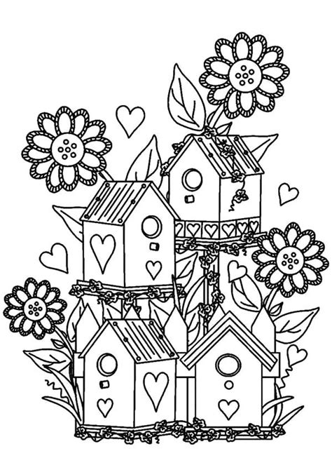 Flower Garden Coloring Pages Garden Coloring Pages For Printable Cooloring