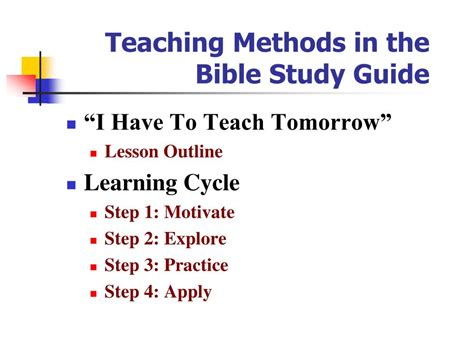 Bible Study Guide Outline by Ppt How To Prepare A Sabbath School Lesson Powerpoint Presentation Id 442797