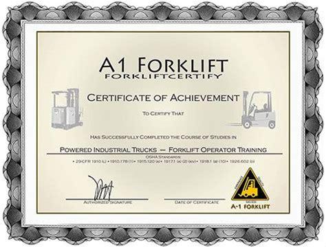 Forklift Certification Forklift Training Onsite Forklift Ehs Templates Certificate Scissor Lift Certification Card Template