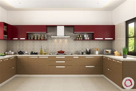 Latest Kitchen Designs Photos Modular Kitchen Trends Contrasting Cabinets Interior