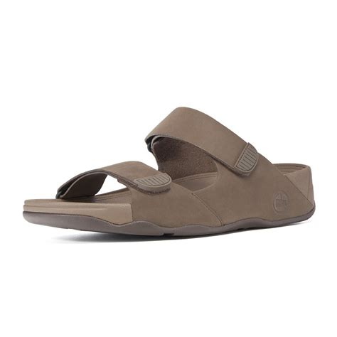 Two Slide Sandals Brown by Fitflops Mens Gogh Slide Ii In Brown Leather From Mozimo