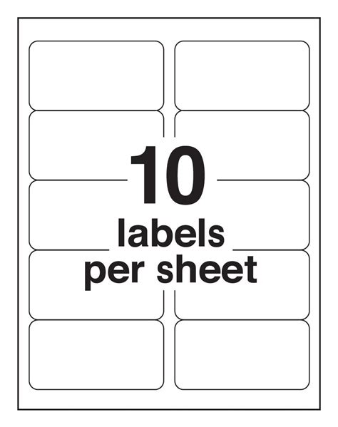 1 label template pro office 2 x 4 premium address shipping labels protekgr