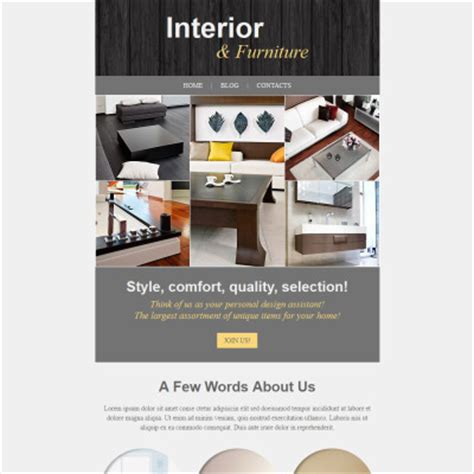 Interior Furniture Newsletter Templates Templates