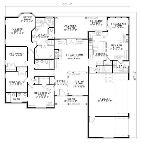 house plan 110 00381 traditional traditional plan 2 405 square feet 4 bedrooms 3