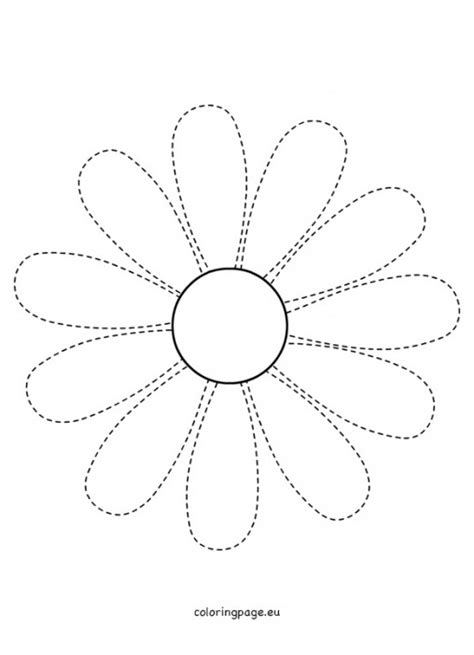 traceable flower templates flowers coloring page