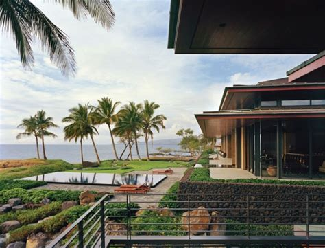 home infinity pool beautiful balinese style house in hawaii