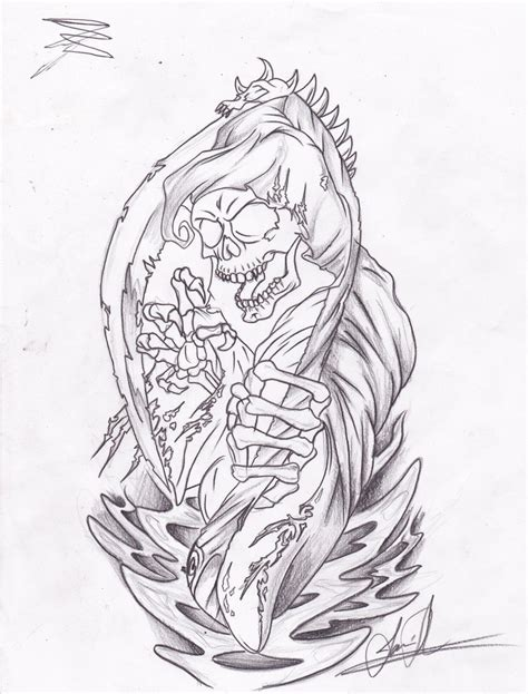 reaper tattoo by jamieshemayme on deviantart