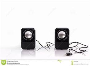 Small Desktop Subwoofer Small Computer Speakers Stock Photo Image 65847668