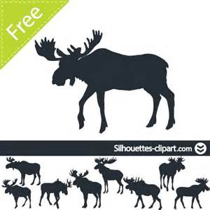 Moose silhouette and vector free on pinterest