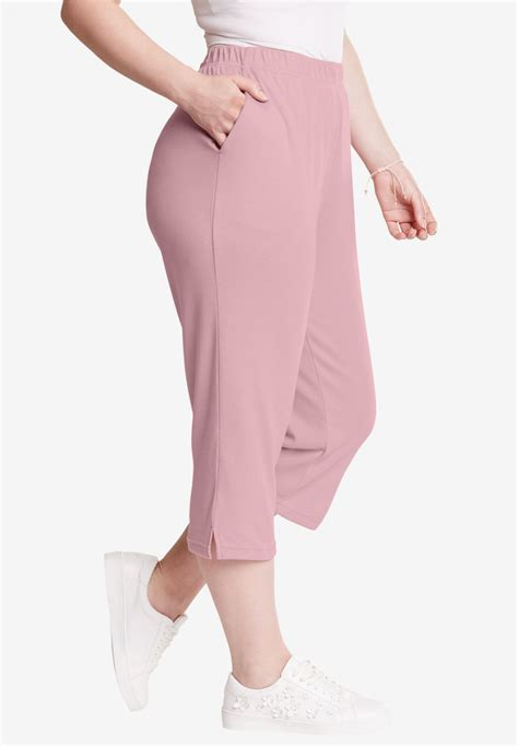 knit capris plus size plus size knit capris the else