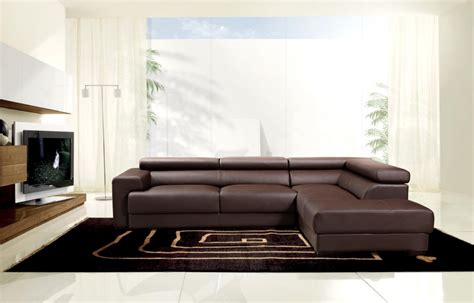 stylish sectionals modern brown leather sectional sofa