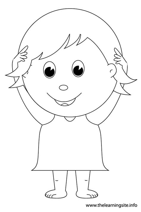 body art coloring page head shoulders knees and toes coloring sketch coloring page