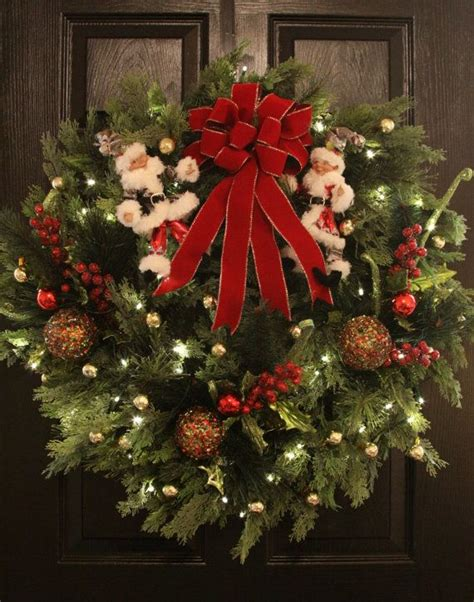 battery operated wreath with timer 32 quot santa s elves large battery operated wreath