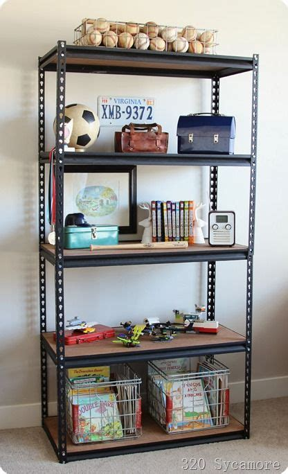 industrial shelf  boys room  sycamore sean