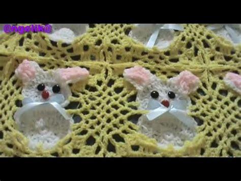 como tejer crochet para colcha en cuadros parte 3 de 5 colcha de conejos a crochet como tejer los