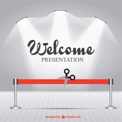 ppt templates for inauguration inauguration spotlight template vector free download