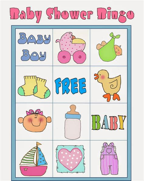 Baby Bingo Shower by Bingo En Colores Para Baby Shower Para Imprimir Gratis