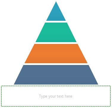 Typical Application Of Pyramid Chart Hierarchy Pyramid Template