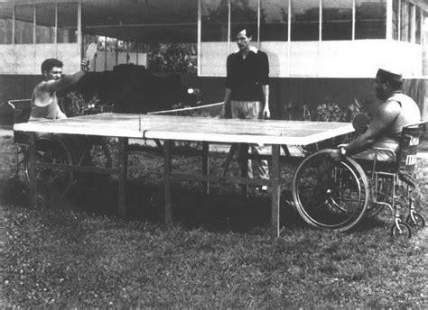 allenamento di tennis tavolo centro paraplegici di ostia