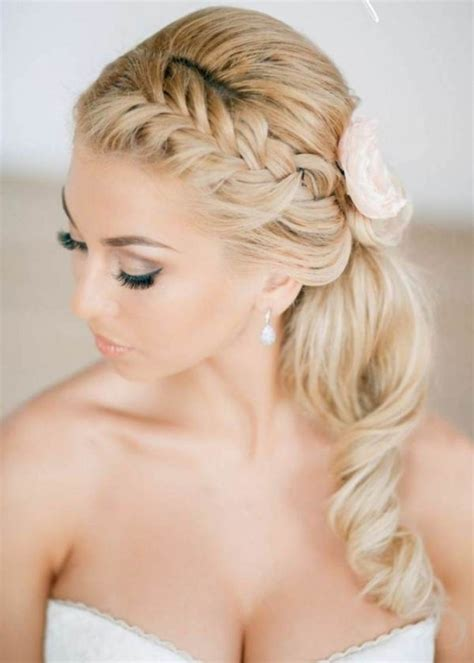 Braided Curly Wedding Hairstyle Prom Hairstyles Half Up