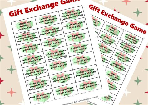 12 days of christmas gift swapping game free gift exchange printable this adventure called