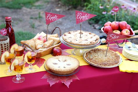 Pie Themed Events | apple pie themed dessert party pizzazzerie