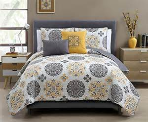5 pc yellow grey and white quilt set full queen size bedding home collection ebay