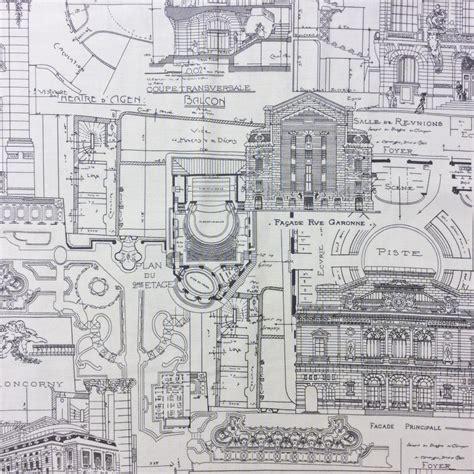 blueprint of a building mo10 blueprint building architecture city cityscape quilt