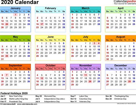 template   calendar  word year   glance  page  color landscap calendar