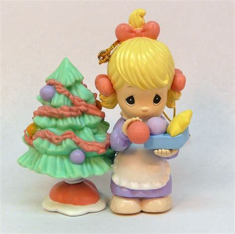 enesco precious moments christmas ornament 1999 girl