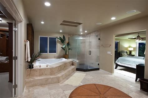 shower in bedroom incredible open bathroom concept for master bedroom