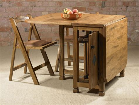 Drop Leaf Kitchen Table And Chairs Adorable Drop Leaf Table With Chair Storage Homesfeed