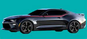 Black Mustang With Silver Stripes Phoenix Graphix 2016 17 Chevrolet Camaro Side Spear Decal