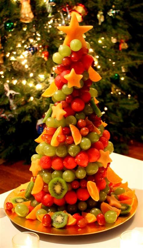 how to make christmas fruits fruit tree on