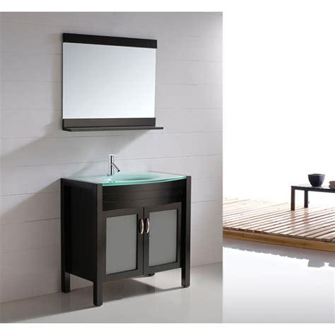 Virtu Usa Ava 36 Quot Single Sink Bathroom Vanity Espresso Modern Bathroom Vanities With Tops