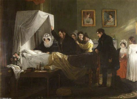 death bed sarah dillwyn s deathbed by charles robert leslie 1794