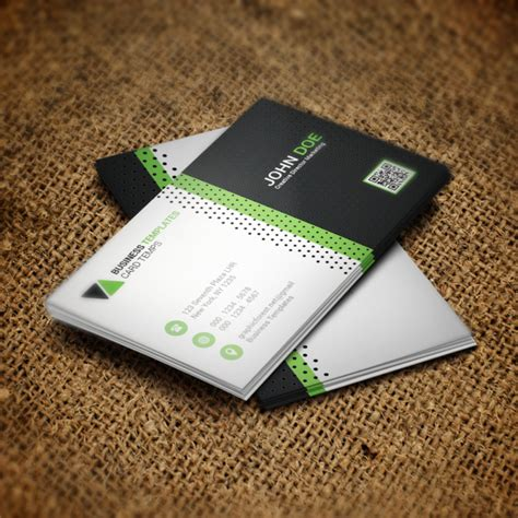 psd template bussiness card with photo green business card psd template template for free